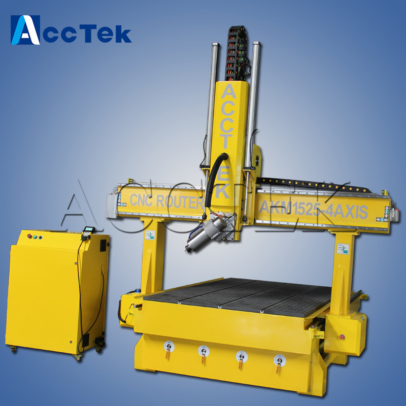 New Design AK1525-4 AXIS Cnc Router 3d Milling Machine