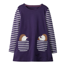 littlemandy Hedgehog Autumn Princess Dress Pattern 2018 Brand New Kids Dresses Baby Girls Clothes Long Sleeve Children Costume