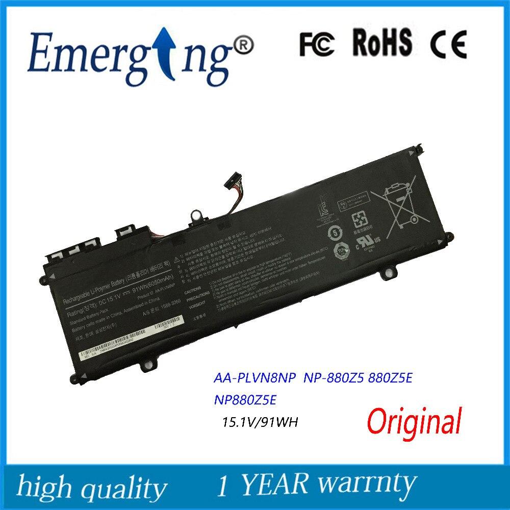 15.1 V 91Wh Nouvelle Batterie D'ordinateur Portable D'origine pour Samsung AA-PLVN8NP ATIV Livre 8 880Z5E NP880Z5E NP880Z5E-X01UB