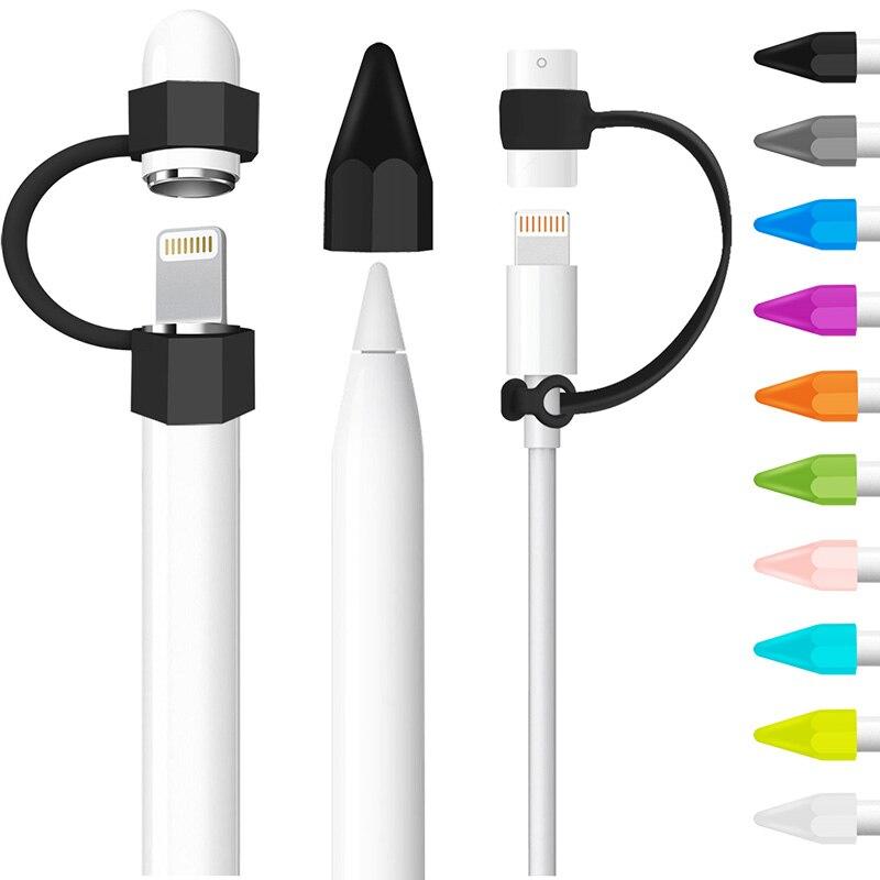 Легкий силиконовые анти-потерянный пыли Кепки держатель СИБ крышка Кабель-адаптер троса комплект для iPad Pro 10,5 12,9 9,7 Apple Pencil ...