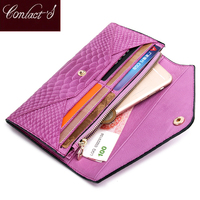 Famous Brand Luxury Long Designer Clutch Genuine Leather Women Wallets Female Purse Ladies Card Holder Money