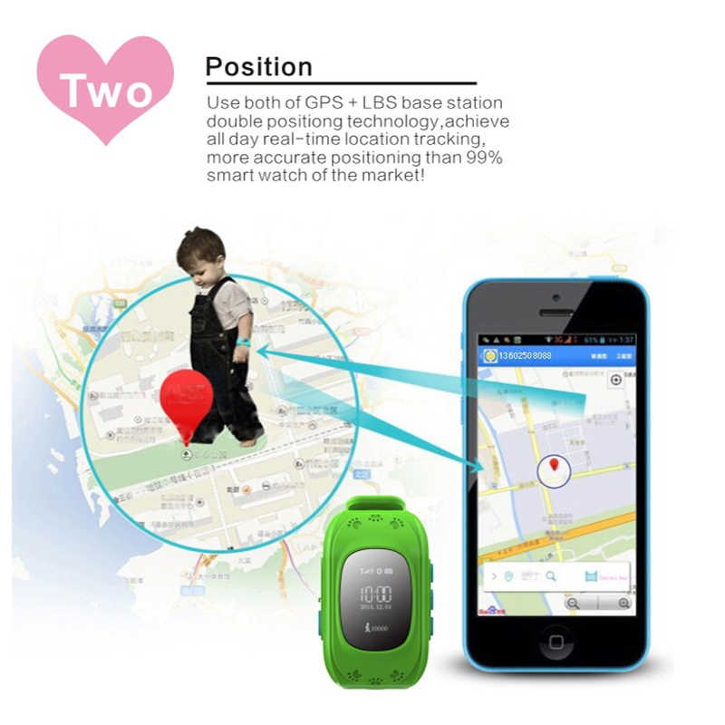 Q50 GPS Smart Kid Safe smart SOS Call Location Finder Locator Tracker Watch for Child Anti Lost Monitor Baby Wristwatch