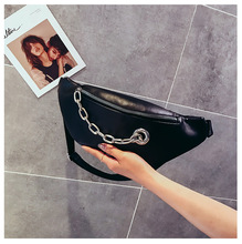 QIUYIN  Lady Pouch Belt Waist Pack Money Chest Bag Famous Brand Bags For Women Fashion Chain PU Leather Messenger