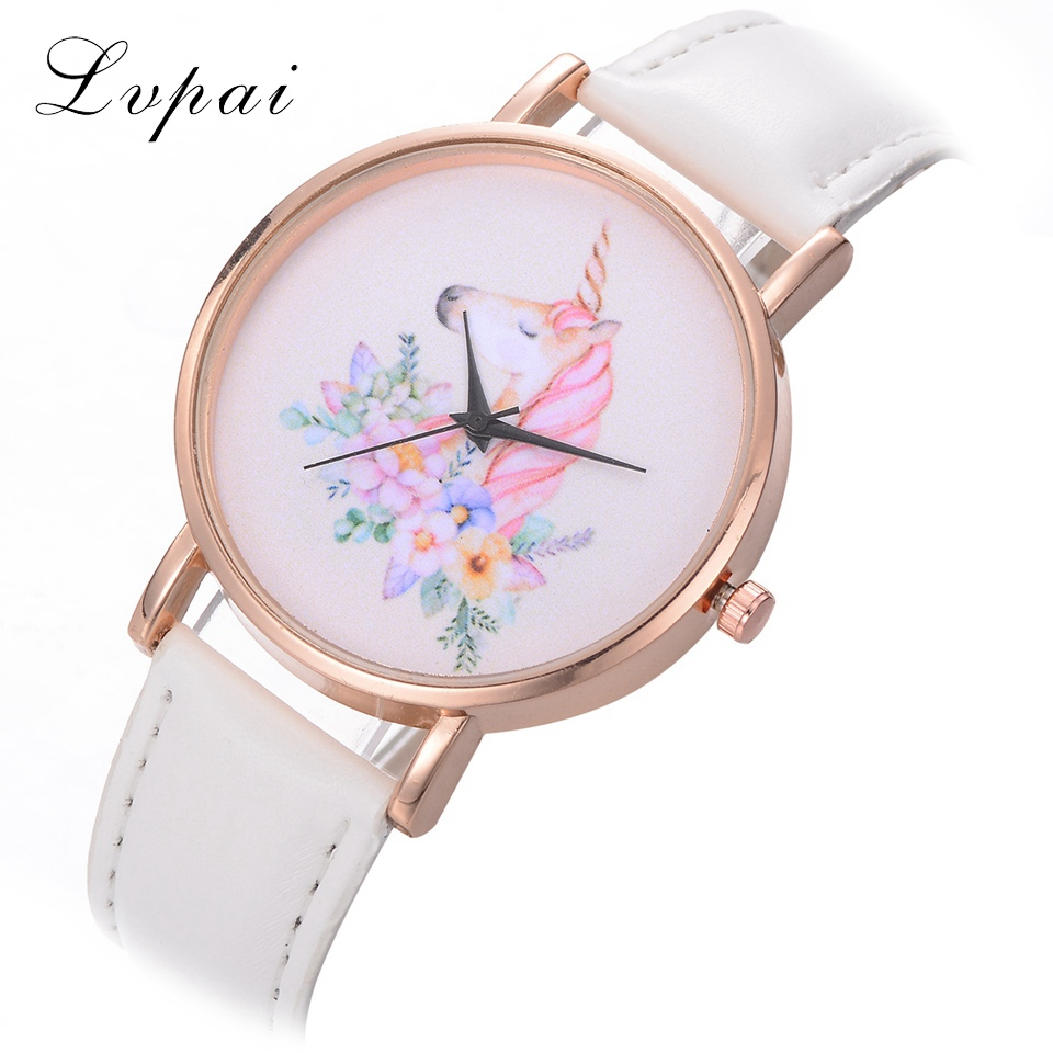 Lvpai Brand Women Leather Watches Luxury Rose Gold Horse Simple White Wristwatch Casual Sport Ladies Dress Quartz Watch Gift gaiety brand women fashion leather watch rose gold ladies dress wristwatch leather band sport clock women quartz watch g502