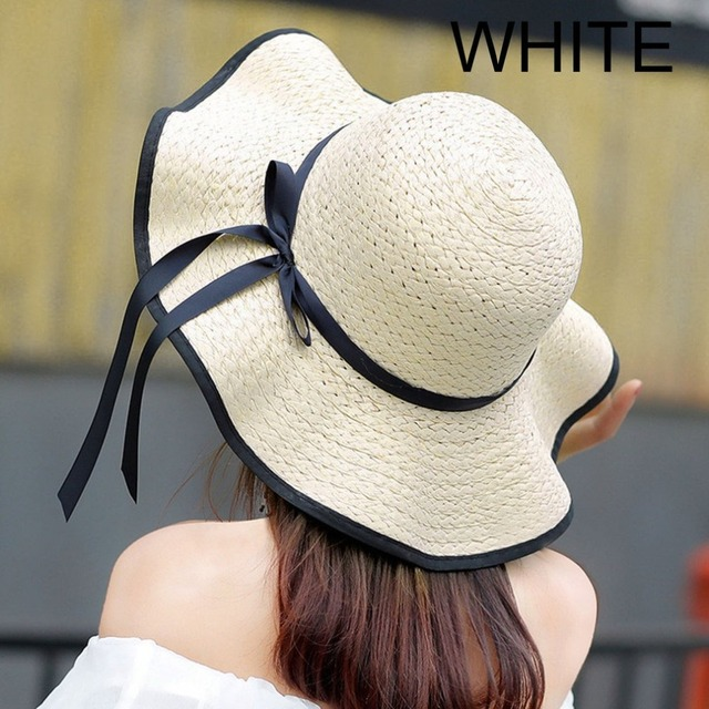 325f535833cade Fashionable Design Women Summer Round Flat Top Straw Beach Hat Charming  Ladies Casual Sunscreen Hat Beach Sun Hat Cap
