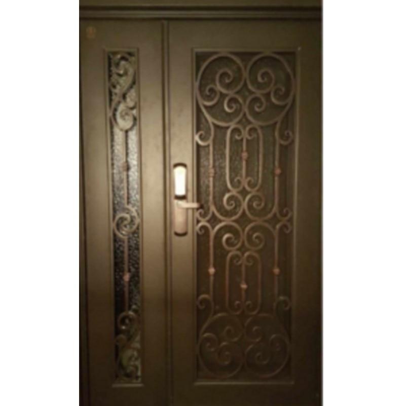 Metal Glass Double Entry Doors Luxury Double Entry Doors Arched Double Entry Doors Hc-ird10