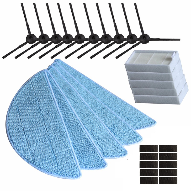 10 side Brush+5 hepa Filter+5 Mop Cloth +10 magic paste for ilife v5s ilife v5 pro ilife x5 V3+ V5 V3 v5pro vacuum cleaner parts cheapest 1pcs cleaning mopping cloth 3 pair hepa filter 3 pair cleaner side brush for dt85 dt83 dm81 vacuum cleaner for house
