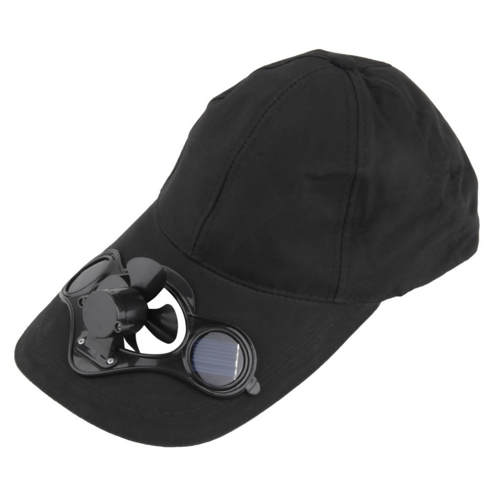 Fishing Summer Sport Outdoor Hat Cap With Solar Sun Power Cool Fan For Cycling Energy Save No Batteries Required FOR VIP