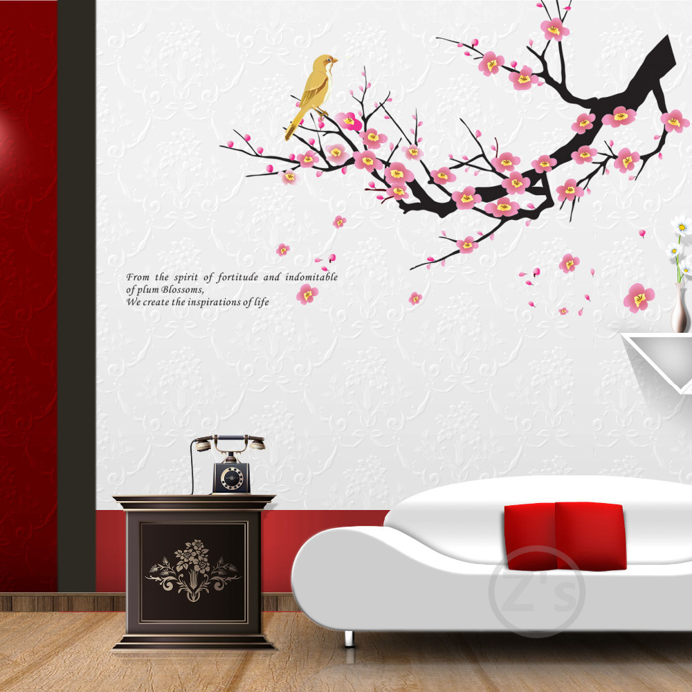 Zs Sticker Tree Bird Wall Decals Tree Branch Branches Wall Sticker Mural  Picture Poster Removable Vinyl In Wall Stickers From Home U0026 Garden On ...