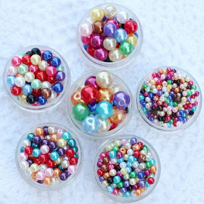 300Pcs 3mm Mixed Color ABS Acrylic Faux Pearl Spacer Ball Round Beads Pearls Scrapbook Fashion Diy Jewelry AIWUJIA