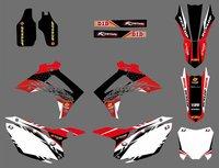 H2CNC Graphics Decal Sticker For Honda CRF250R CRF250 2014 2016 & CRF450R CRF450 2013 2014 2015 2016 CRF 450 450R CRF 450 R