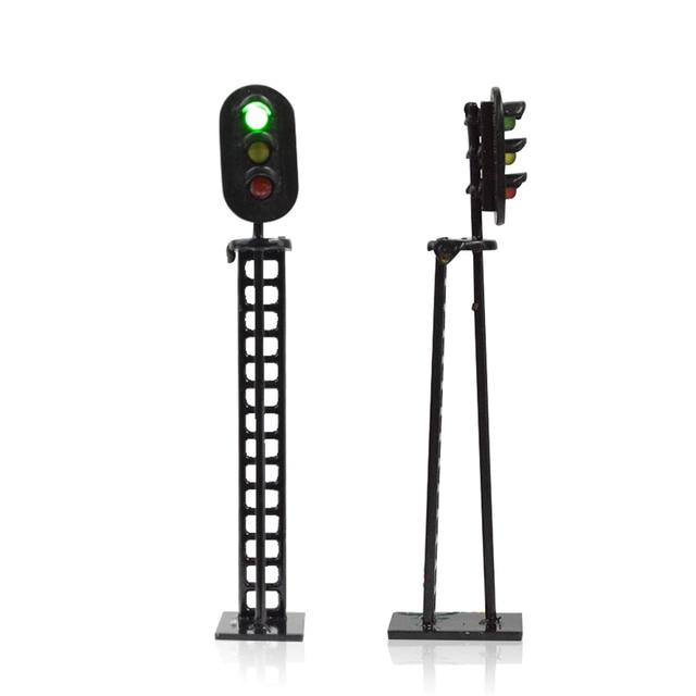 10 sztuk około 7 CM Model układu kolejowego i budowlanego sygnalizacji ruchu światła LED 12 V Led Model z dobrym jakości