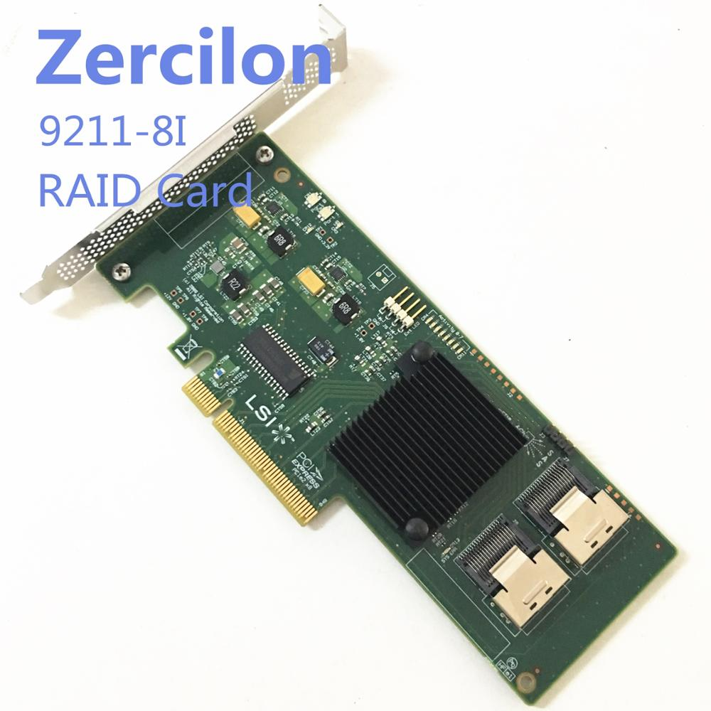 LSI SAS 9210-8i 8-port 6Gb//s PCIe HBA RAID SATA Controller card = 9211-8I M1015