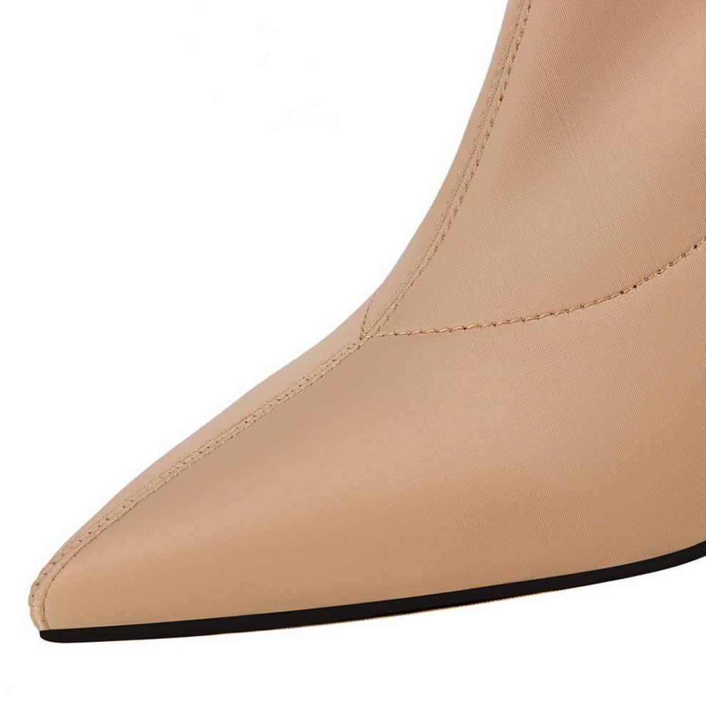 De Zapatos Boots Boots amp; Botas Alto black Khaki {d Metálico Mujer gray Media Tacón winered Henlu} Calcetines Las Pantorrilla Elástico Boots Boots Sexy Mujeres 2018 qAUqXxw8