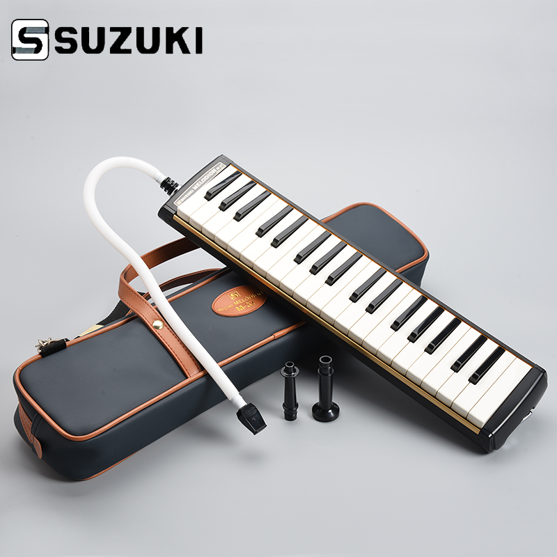 SUZUKI M-37C Keyboard Harmonica Melodion Melody On Alto 37 Key Professional Melodica/ pianica With Handbag Gift of choice suzuki s 32c soprano melodion with case and mouthpiece 32 key melodica professional performance