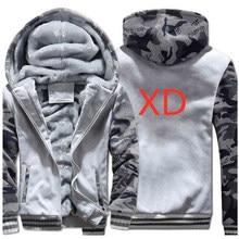 XD для мужчин с капюшоном бренд автомобиль логотипы принты толстовки для человека модные утепленные куртки на молнии Спортивная теплая толстовк