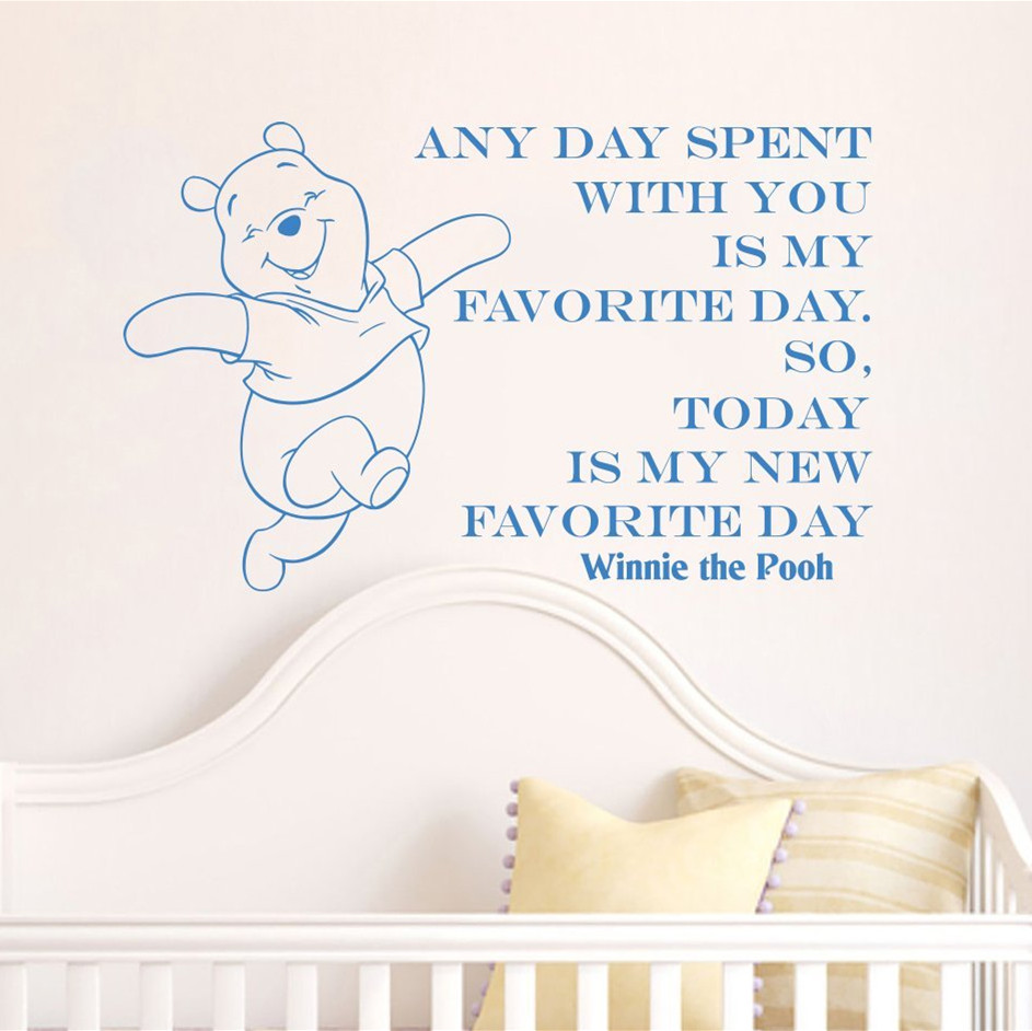 compare prices on nursery quote decals online shopping buy low creative winnie the pooh happy home decoration baby quote wall decal nursery removable wall stickers home