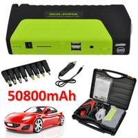 50800mAh 12V Portable Car Jump Starter Pack Booster Charger Battery Power Bank Starting Device Emergency Starting Power Supply