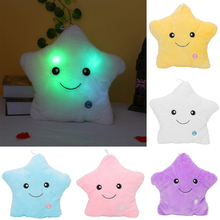 Hot Luminous Pillow font b Toys b font LED Light Plush Stars Kids Birthday Christmas Gift