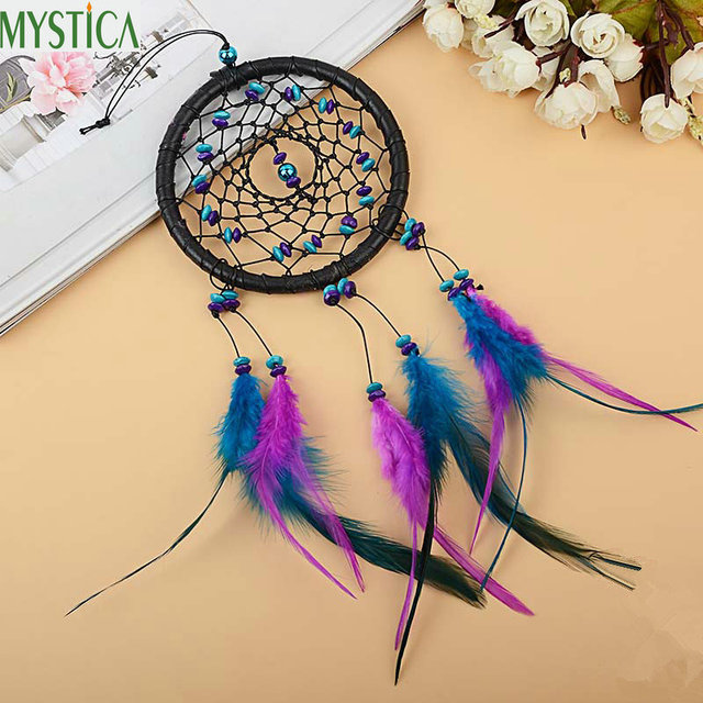 New Feather Handmade Dream Catcher Wind Chimes Car Pendant Home ...