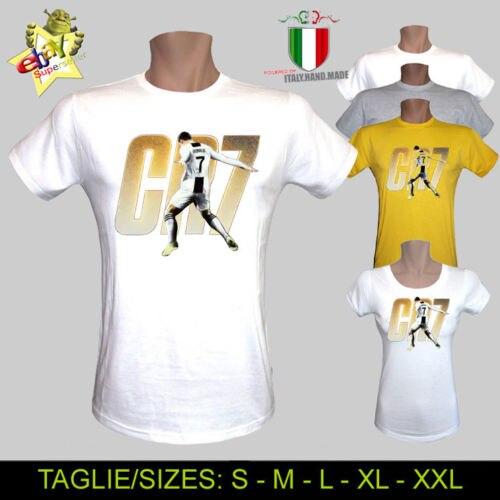 Enthusiastic T-shirt Cristiano Ronaldo Cr7 Calcio Juve Team Club Uomo Donna Bambino Cool Casual Pride T Shirt Men Unisex Fashion Tshirt Bright Luster T-shirts Tops & Tees