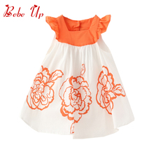 Free Shipping Retail 2014 New Children Casual Fashion Dress Cotton Girls Party Dresses For Baby Kids Brand Princess Summer retail top quality brand new fashion coat baby children kids vest