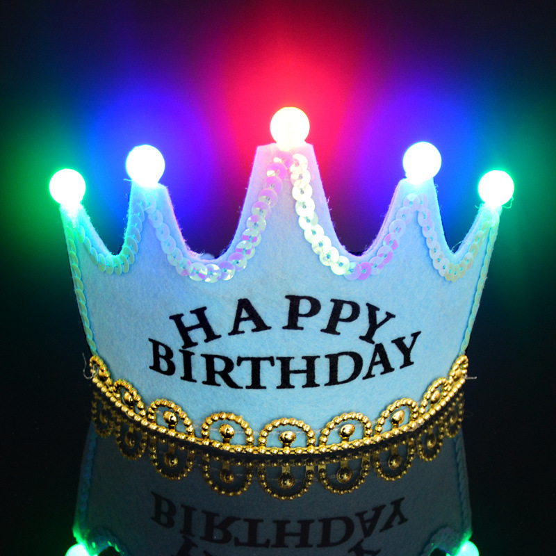 Cutest Light-Up LED Light Children Birthday Crown Kids Girls Party Flashing Hat