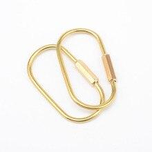 RE, простой латунный брелок, золотой, ручной работы, брелок, металлический, автомобильный брелок, EDC гаджет, брелки для мужчин, подарок бойфренду D0535