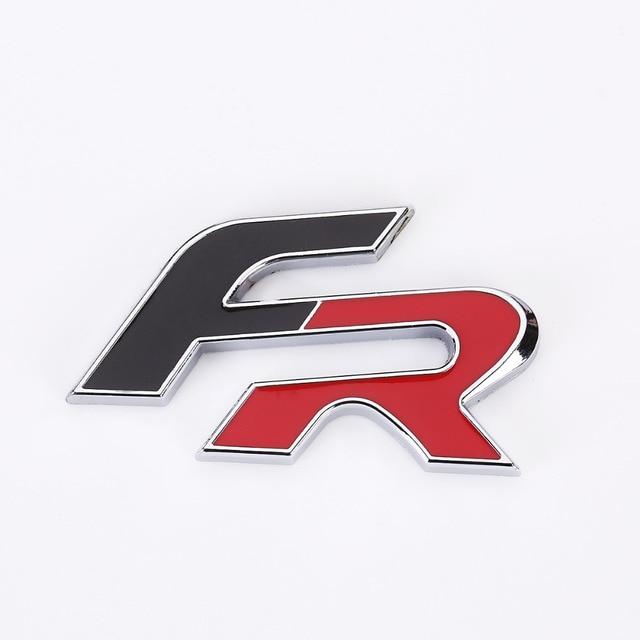 Métal 3D FR voiture autocollant emblème Badge pour siège Leon FR + Cupra Ibiza Altea Exeo formule course voiture accessoires voiture style