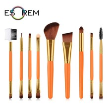 ESOREM 9pcs Pure Colour Cosmetic Brush Set Convenient Dual Makeup Sponge Eyelash Stippling Pinceaux Maquillage 70109