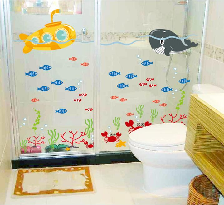 Baratos submarino ballena pescado pegatinas de pared de for Decoracion hogares infantiles