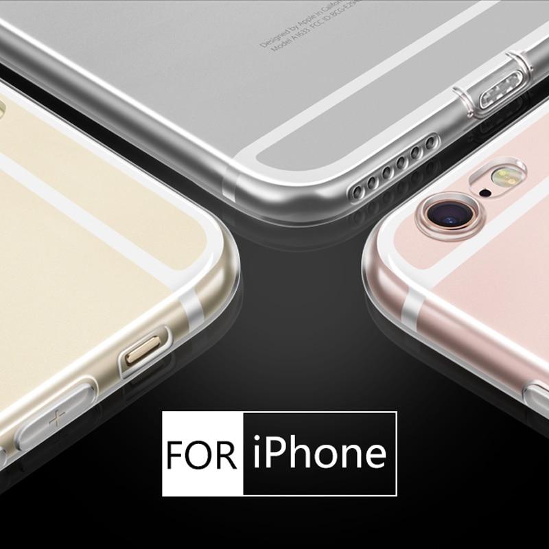 Untuk iPhone 5 5 S 6 6 S 6 DITAMBAH 7 S Doolike Transparan Ponsel - Aksesori dan suku cadang ponsel - Foto 2