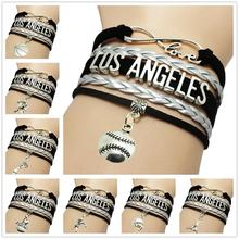 Infinity Love Los Angeles Basketball Team Bracelets cheer up los angeles laker basketball bracelet love cardinals
