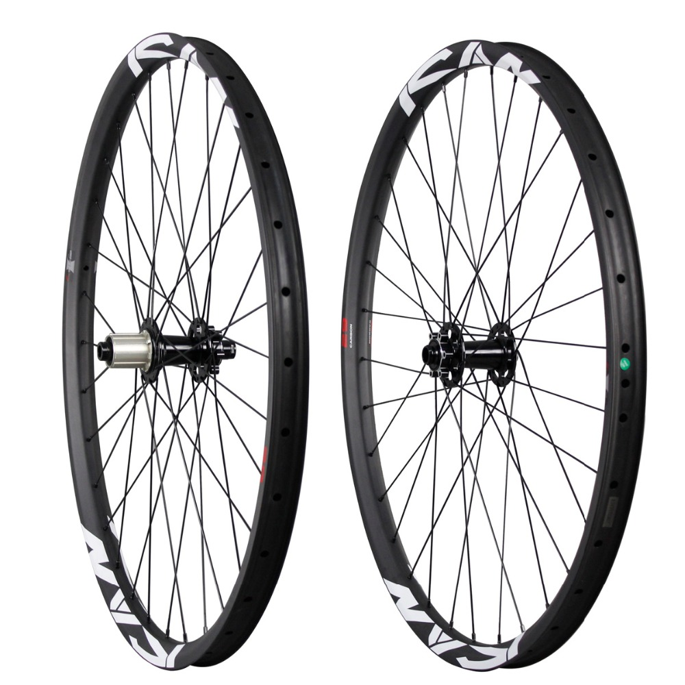 ICAN All mountain carbon bicycle wheels 29ER mtb 35mm clincher hookless 148 or 142 axle China mountain wheel AM290-35TL 29er hookless carbon bicycle wheel tubeless mountain bike wheel set thru axle 15mm 29inch mtb wheel