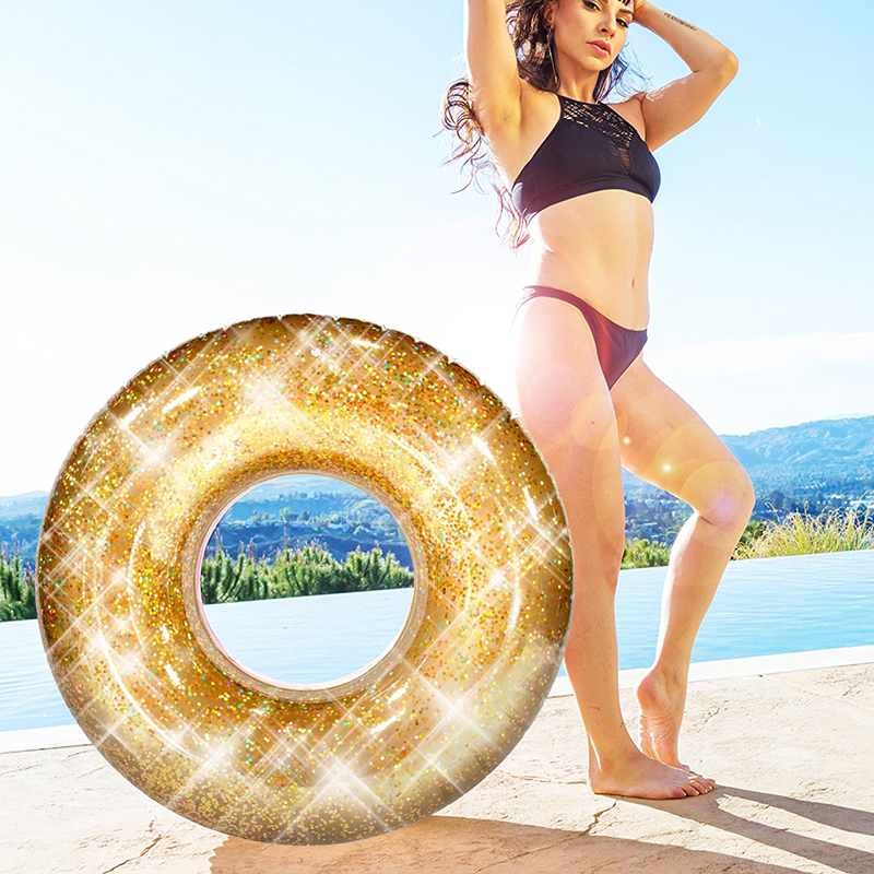 Inflatable-Holographic-Glitter-Swimming-Ring-in-Gold-Sequins-Swim-Circle-Raft-for-Adults-Beach-Fun-Water