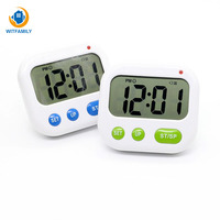 Large LCD Digital Alarm Clock Student Kitchen Timer Vibrating Snooze Full Vision Clock Loud Alarm Mini