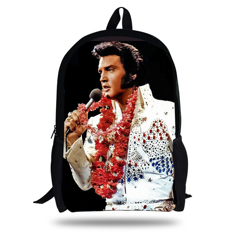 Kollegg Singer Elvis Presley 3d Printing Children Softback Backpack Travel Mochila School Backpacks For Teenager Boys Bags