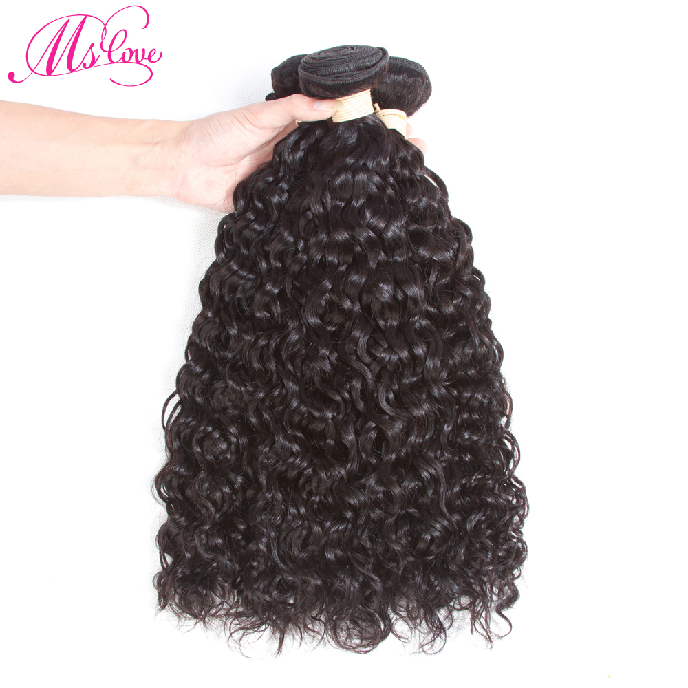 Human Hair Bundles Peruvian Water Wave Weave Bundles 3pcs/lot Non-remy Hair Extension Double Weft Natural Color