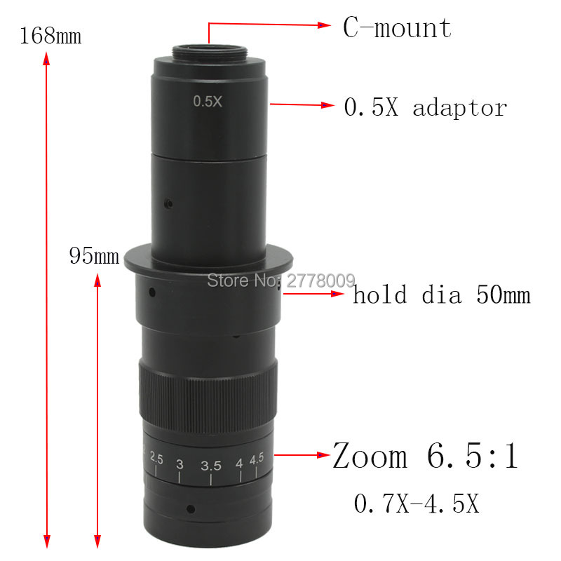 10X 180X Adjustable Magnification 25mm Zoom C mount Lens 0 7X 4 5X Industry Monocular Video