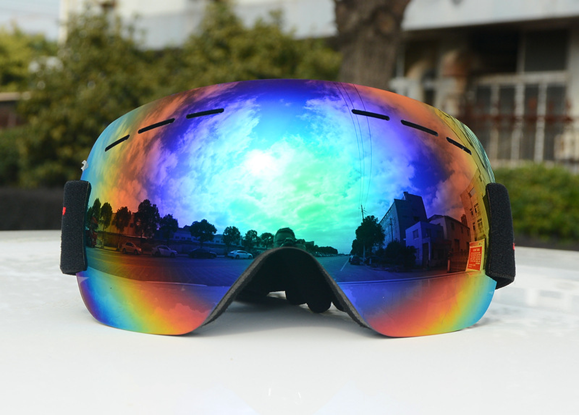 2019 Ski Goggles Double Layers UV400 Anti fog Big Ski Mask Glasses Skiing Men Women Snow Snowboard Goggles Skiing in Skiing Eyewear from Sports Entertainment