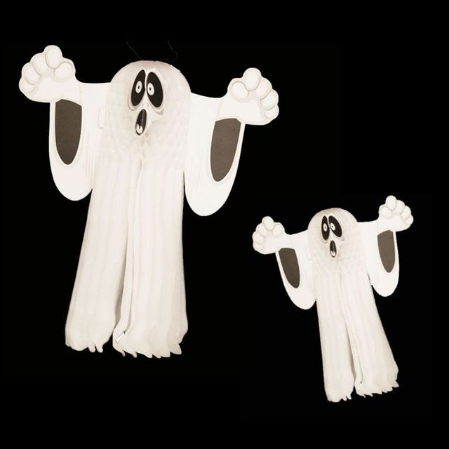 Halloween Paper Small Halloween Haunted House Decor White Ghost Wall ...