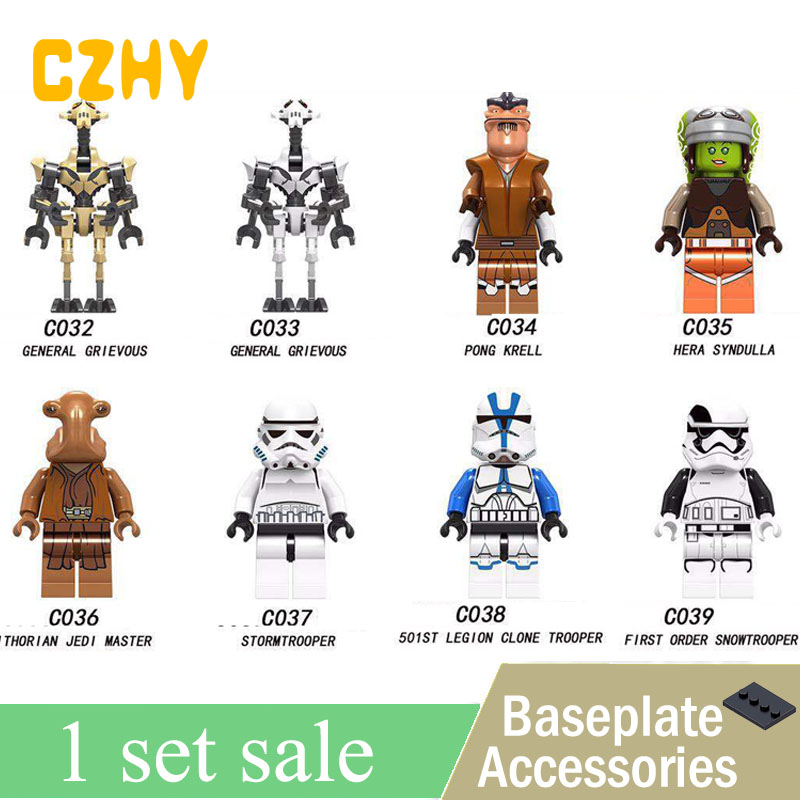 C032-039 Star wars General Grievous Pong Krell Jedi master Clone Stormtroopers Building Blocks Children Gifts Toy цена