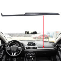 Carbon Fiber Colors Car Styling Inner Dashboard Console Center Trim Cover Decoration Fit For Mazda 3 Axela 2014 2016 Car Styling