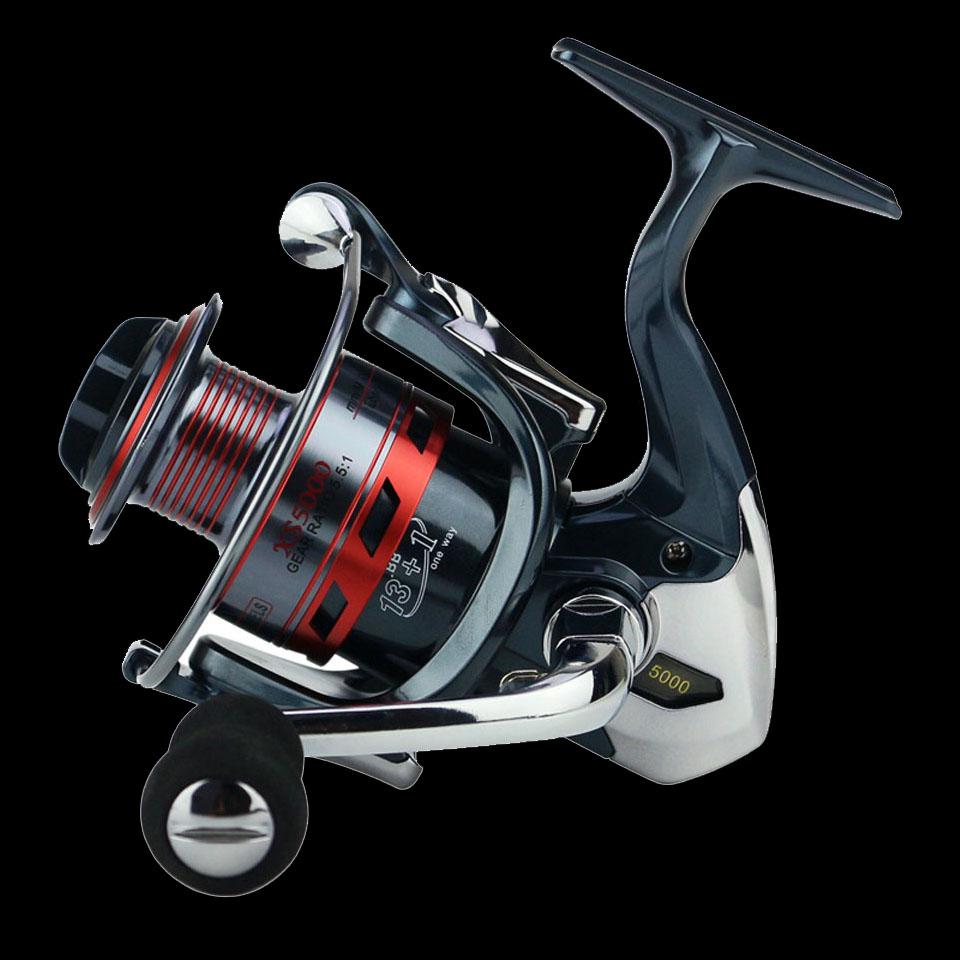 Pista de pesca 13 + 1BB carrete de pesca giratorio Metal XS1000-7000 Series carrete de pesca