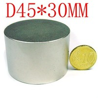 wholesale 2 pcs 45mm x 30mm disc powerful magnet craft neodymium rare earth permanent strong n50 n52 45*30 45x30