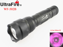 U F WF 502B 5W 4 Core 940nm Infrared Ray LED Flashlight 1x18650