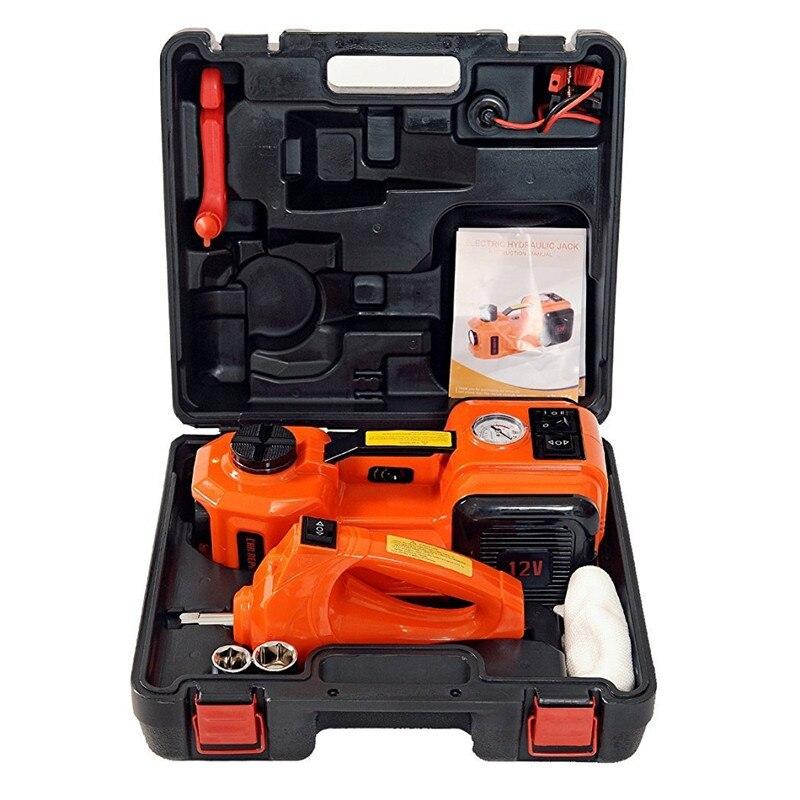 Livraison gratuite rapide Portable 3 fonctions électrique hydraulique Jack clé à chocs et compresseur d'air pour russe