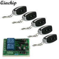 433MHz RF Learning Code Transmitter Receiver 2 Channel Transmitter 2 Channel Receiver Remote Door System Garage