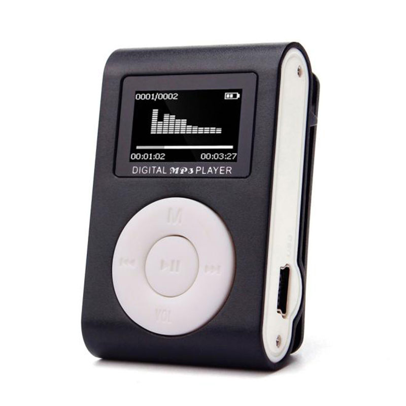Высокое качество Мини Clip MP3-плееры Поддержка 32 ГБ микро-tf/SD слот для карты спорта MP3 плеера с Экран Портативный gife