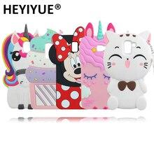 Cartoon Case For Samsung Galaxy J4 Plus J6 Plus Sweet Cat Unicorn Minn